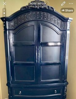 Beautiful armoire! Details galore
