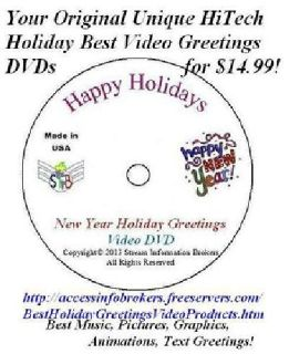 Best Original Holidays Video Greetings DVDs in Mfg Packaging