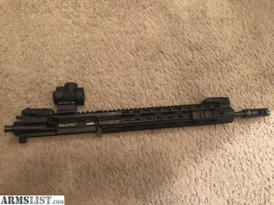 For Sale: AR 15 14.5 Complete Upper pin and welded with Trijicon MRO