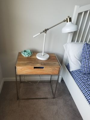 One Industrial nightstand