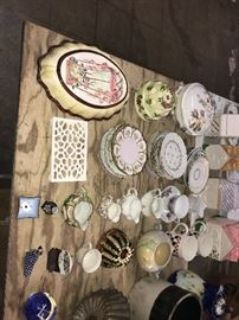 Large antique auction collectibles and more