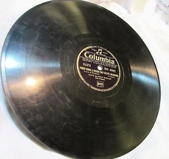 "1938 antique 1691 columbia melancolie 78rpm record etched album 10"" double sided"