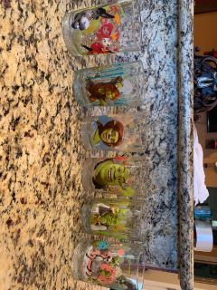 Shrek Collection Glass Cups Set of 6