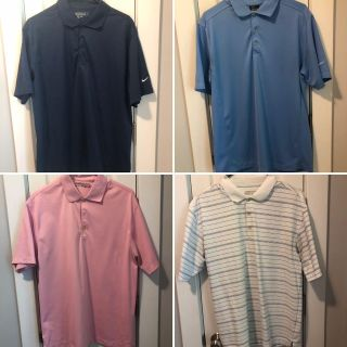 Collection of 4 Men s Nike Golf shirts L & M