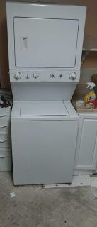 Frigidaire super capacity stackable washer and dryer
