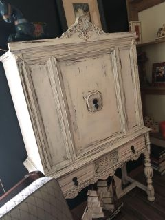 Antique Armoire. 16x42x68. Cross posted.