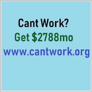 Cant Work? Get $2788 A Month.