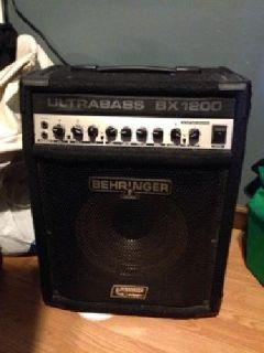 $155 Behringer Ultrabass BX1200 bass amp