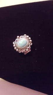 Paparazzi stretch turquoise and silver ring