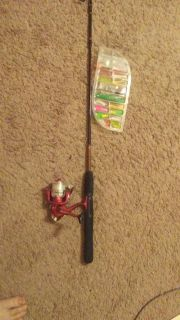 Child's fishing rod and lure set