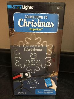 Christmas countdown projector