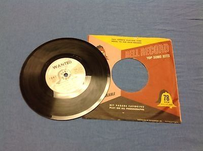 """Flag TOMMY DORSEY feat JIMMY DORSEY 7"""" 78 rpm WANTED / I SPEAK TO THE STARS #1041 Vintage Retro ..."""