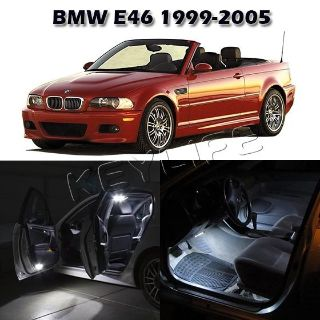 Sell 7 Error Free White LED Interior Light Lamp Bulb Interior Package Set For BMW E46 motorcycle in Cupertino, CA, US, for US $19.45