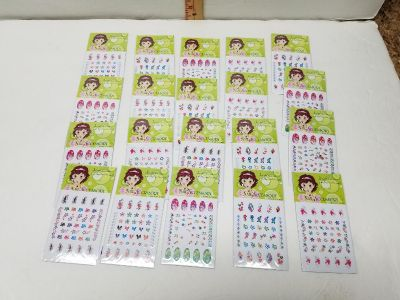 Lot of 20 New Girl's Nail Decals $2 All