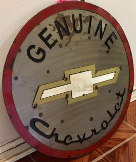 Metal CHEVY Bow Tie Sign
