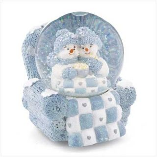"Collectible Snowbuddies ""Rocking Chair"" Musical Water Globe"