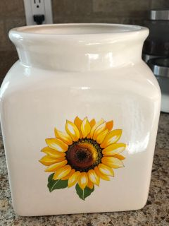 Sunflower canister 4 x 4 no lid