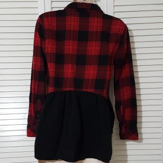 Flannel Shirt with Back Detail XS
