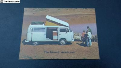 NOS 1969 1970 Bus Camper Postcard Vacationer