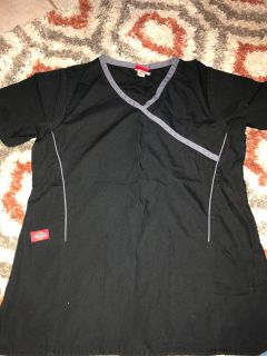 Xs Dickies Black/grey scrub top