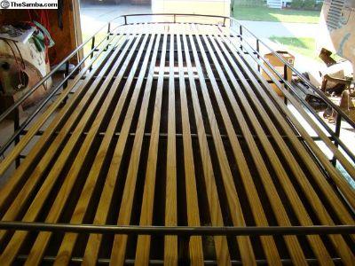 Wood roof rack slats