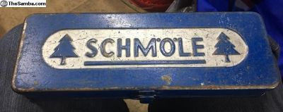 Vintage 1950s Schmole tool box German