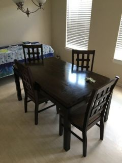 Brown Wooden kitchen table