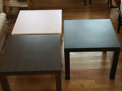 Mainstays Parsons End Table, Square Coffee/Lamp/Center Table