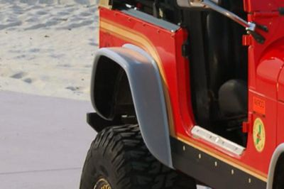 Buy 76-80 Jeep CJ Rear, Right Fender Extension Traditional 1 Pc SUV motorcycle in Anaheim, California, US, for US $82.00