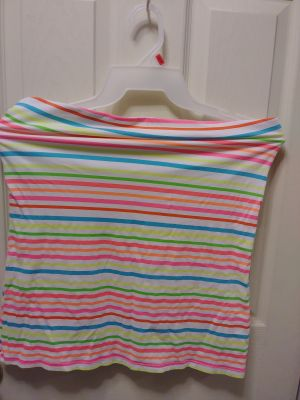 Strapless blouse very cute for the hot summer months!