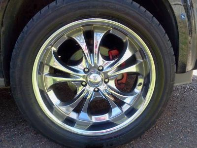 Set of 4 new tires and 20in. rims