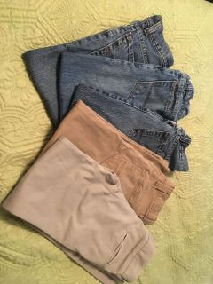 Boys size 8 jeans and khakis
