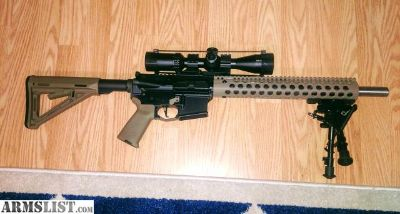 For Sale: 16 inch AR 15 upper scope included