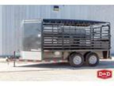 2019 Delco Trailers 16 Ft Bumper Pull Stock Trailer