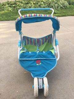 American girl bitty baby two seat stroller