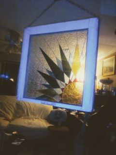 Art glass window frame