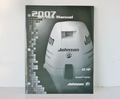 Buy NEW OEM 2007 Johnson SU 4 stroke 25 HP Outboard Motor Service Manual 5007223 motorcycle in Daytona Beach, Florida, United States, for US $33.95