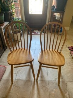 2 chairs solid wood