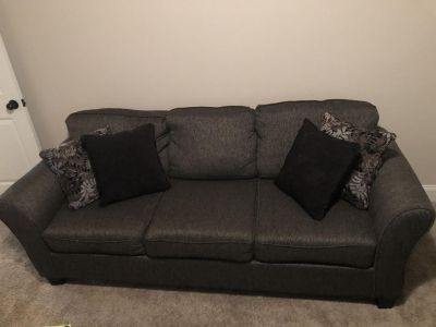 Sofa and Love seat with throw pillows