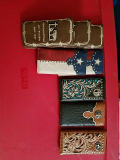 Montana west leather cowboy wallets
