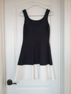 Navy and White Tank Top Dress
