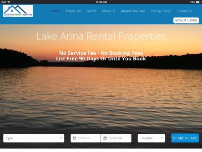 Lake Anna Rental Properties.com.  Vacation Rental Homes By Owners. $150