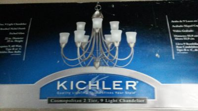 Kichler 2 tier 9 light Chandelier