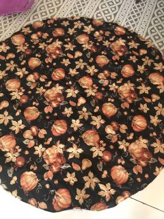 Round Fall table cloth