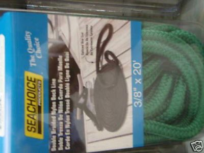 "Sell DOUBLE BRAID DOCK LINE GREEN 3/8"" X 20FT 50-39651 BOAT PARTS MARIINE SUPPLY NEW motorcycle in Osprey, Florida, US, for US $9.95"