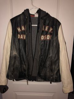 Harley vintage collection leather with removable liner,size L, like new condition worn once!