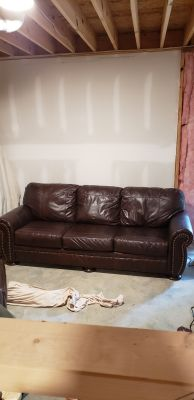 Ashley Furniture leather sofa & loveseat