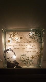 Glass Block. With image of your choice and wording.