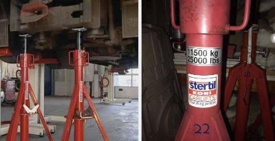 Stertil Koni 12 Ton Rolling Axel Stands