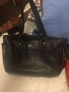 Black leather Coach purse in great condition